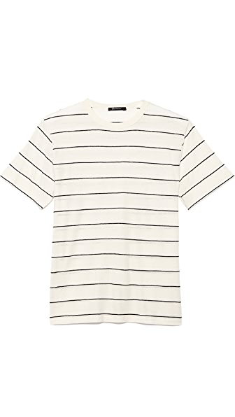 T by Alexander Wang Linen Stripe Short Sleeve Tee