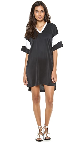 T by Alexander Wang Oversized Football Tee Dress