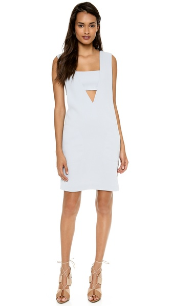 T by Alexander Wang Low V Dress with Bandeau