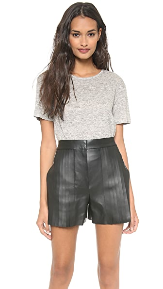 T by Alexander Wang Heathered Short Sleeve Tee