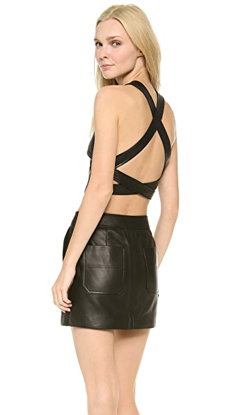 T by Alexander Wang Leather Crossback Tank