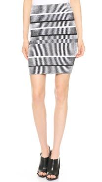 T by Alexander Wang Rib Knit Pencil Skirt