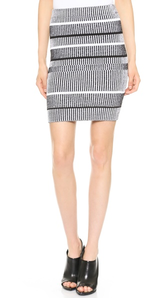 T by Alexander Wang Rib Knit Pencil Skirt