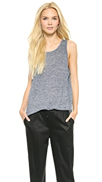 T by Alexander Wang Heathered Linen Oversize Tank