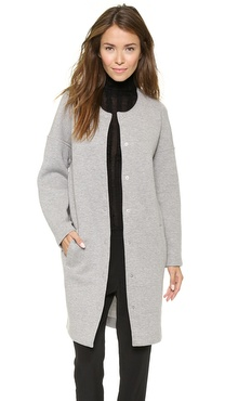 T by Alexander Wang Oversized Collarless Coat