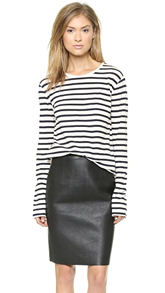 T by Alexander Wang Stripe Long Sleeve Tee