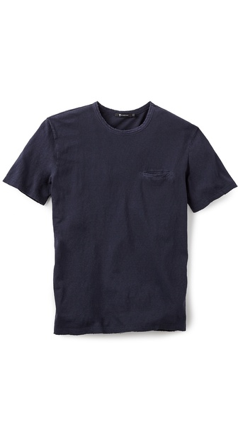 T by Alexander Wang Distressed Pocket T-Shirt