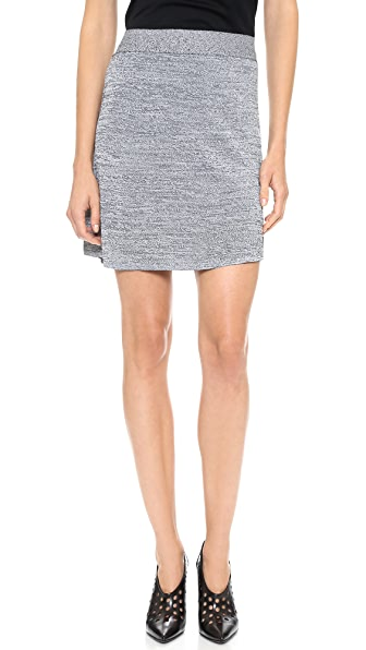 T by Alexander Wang Stretch Rayon Knit Miniskirt