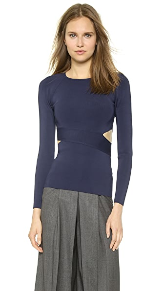 T by Alexander Wang Crisscross Long Sleeve Top