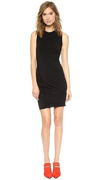 T by Alexander Wang Jersey Twist Draped Sleeveless Dress