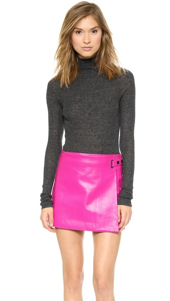 T by Alexander Wang Alpaca Fitted Turtleneck