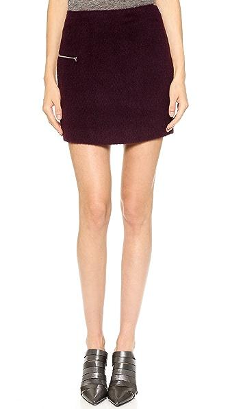 T by Alexander Wang Felt Miniskirt