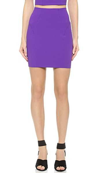 T By Alexander Wang T By Alexander Wang Stretch Tech Suiting Pencil Skirt (Violet)
