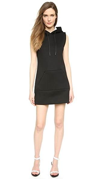 Kupi T by Alexander Wang haljinu online i raspordaja za kupiti T By Alexander Wang Scuba Neoprene Hooded Dress Black online