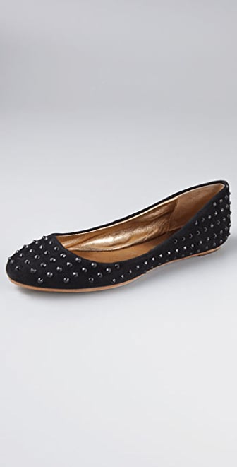 Twelfth St. by Cynthia Vincent Mila Studded Suede Flats