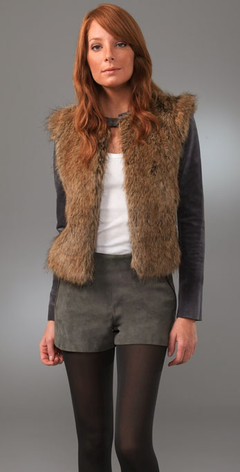 Twelfth St. by Cynthia Vincent Fur Front Jacket