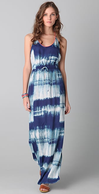 Twelfth St. by Cynthia Vincent Racer Back Tie Dye Maxi Dress