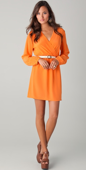 Twelfth St. by Cynthia Vincent Long Sleeve Mini Dress