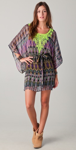 Twelfth St. by Cynthia Vincent Embroidered Caftan Dress