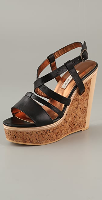 Twelfth St. by Cynthia Vincent Marlow Cork Platform Sandals