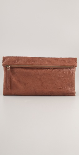 Twelfth St. by Cynthia Vincent Rollover Leather Clutch