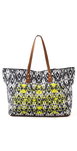 Twelfth St. by Cynthia Vincent Cove Large Silkscreen Beach Tote