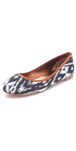 Twelfth St. by Cynthia Vincent Sage Printed Ballet Flats