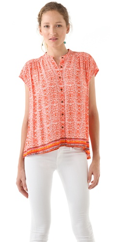 Twelfth St. by Cynthia Vincent Oversized Button Down Blouse