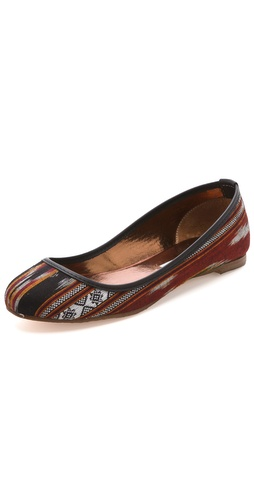 Twelfth St. by Cynthia Vincent Sage Ikat Ballet Flats at Shopbop.com