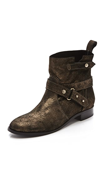 Twelfth St. by Cynthia Vincent West Metallic Suede Engineer Boots