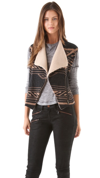 Twelfth St. by Cynthia Vincent Sherpa Aztec Vest