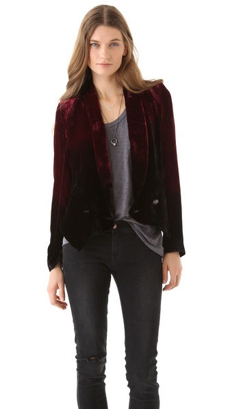 Twelfth St. by Cynthia Vincent Ombre Velvet Blazer