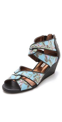 Twelfth St. by Cynthia Vincent Idra Canvas Wedge Sandals at Shopbop.com