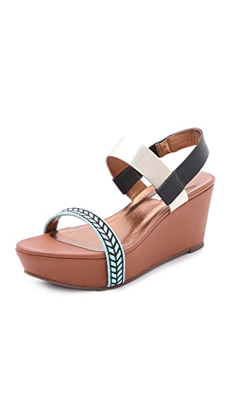 Twelfth St. by Cynthia Vincent Meenah Wedge Sandals