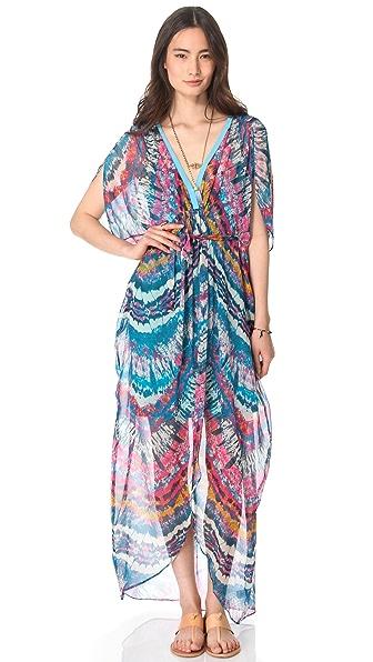 Twelfth St. by Cynthia Vincent Fabric Block Caftan Maxi Dress
