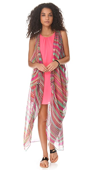 Twelfth St. by Cynthia Vincent Draped Maxi Cover Up