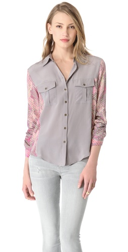 Twelfth St. by Cynthia Vincent Colorblock Blouse