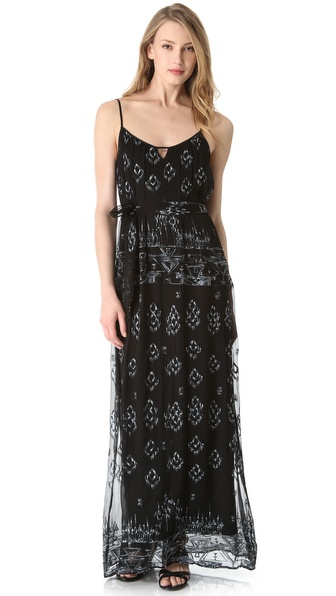 Twelfth St. by Cynthia Vincent Embroidered Maxi Dress