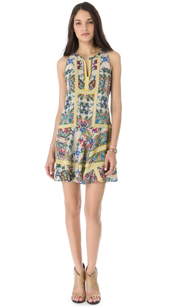 Twelfth St. by Cynthia Vincent Handkerchief Mini Dress