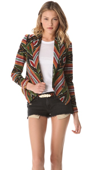 Twelfth St. by Cynthia Vincent Ikat Blazer