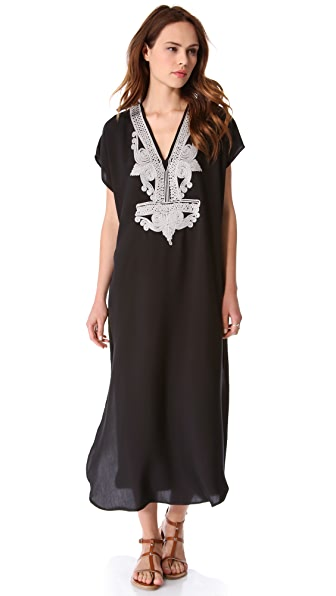 Twelfth St. by Cynthia Vincent Embellished Caftan Maxi Dress