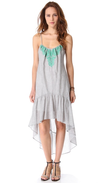 Twelfth St. by Cynthia Vincent Neon Embellished Stripe Dress