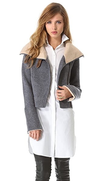 Twelfth St. by Cynthia Vincent Boiled Wool Moto Jacket