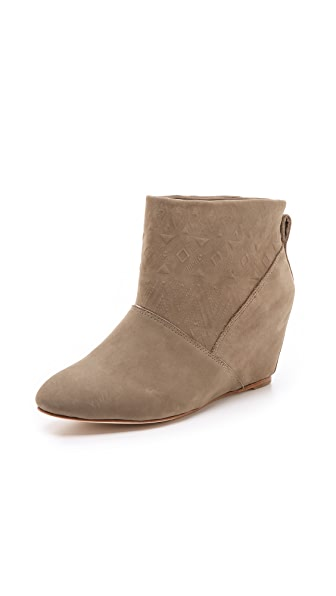 Twelfth St. by Cynthia Vincent Gwen Embossed Wedge Booties
