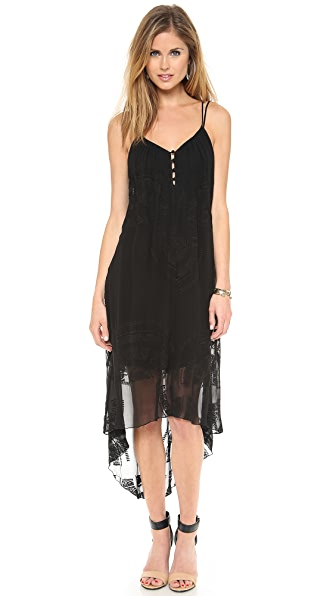 Twelfth St. by Cynthia Vincent Button Front Hi LO Dress