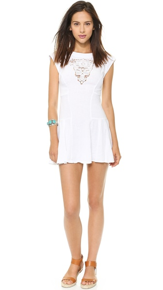 Twelfth St. by Cynthia Vincent Bull Embroidery Mini Dress