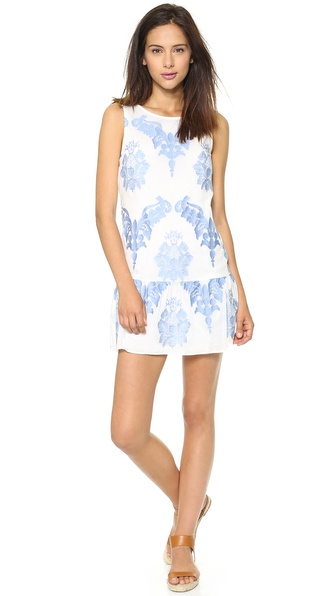 Twelfth St. by Cynthia Vincent Drop Waist Mini Dress