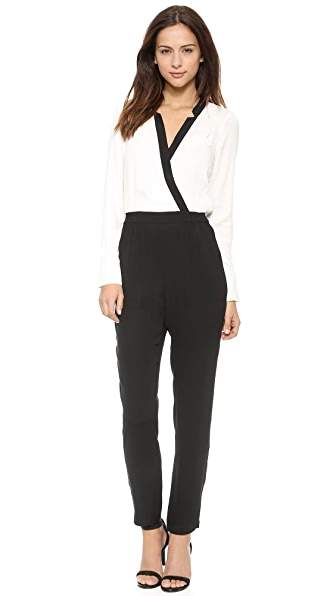 Twelfth St. by Cynthia Vincent Notched Collar Jumpsuit