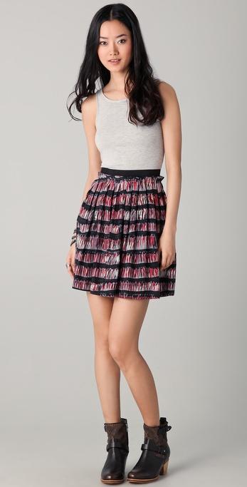 Twenty8Twelve Olivine Feather Print Combo Dress