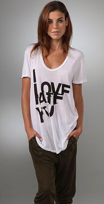 291 Love/Hate Short Sleeve Tee